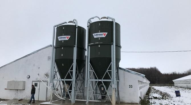 pig farming steel silo